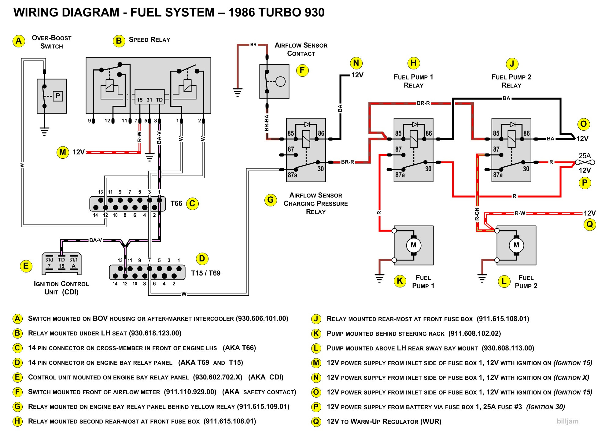 porsche 911 fuel pump wiring diagram